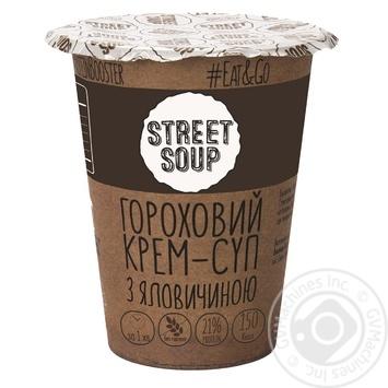 Крем-суп гороховий Street Soup з яловичиною 50г - купити, ціни на Novus - фото 1
