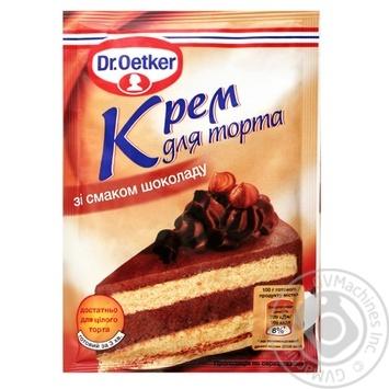 Крем для торта Dr. Oetker шоколадный 55г - купить, цены на Novus - фото 1