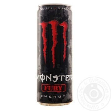 Monster Energy Fury Non-Alcoholic Energy Drink 355ml - buy, prices for MegaMarket - image 1