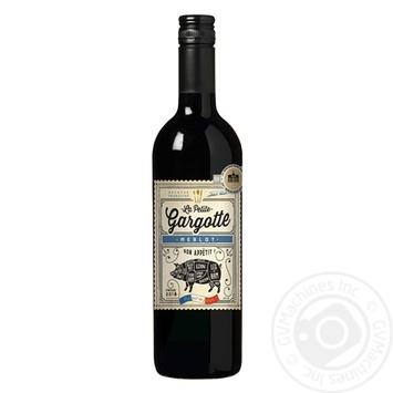 Вино Gargotte Merlot Pays d'Oc красное полусухое 13,5% 0,75л