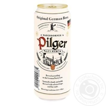Пиво Paderborner Pilger світле нефільтроване пастеризоване 5% 0,5л