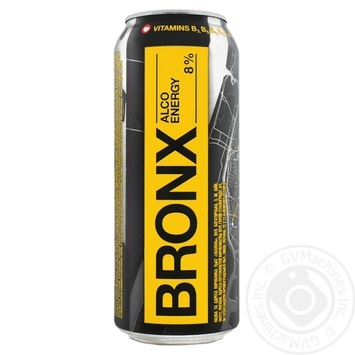 Bronx energy low-alcoholic drink can 8% 0,5l
