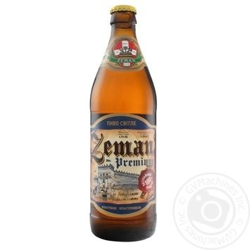 Пиво Земан Премиум светлое 4,3% 0,5л