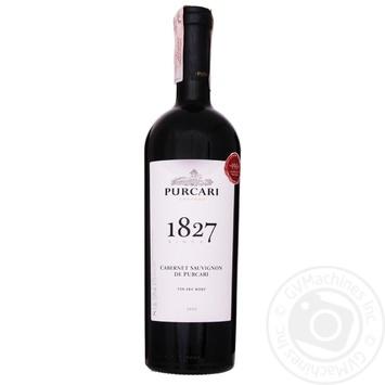 Вино красное Пуркарь Каберне Совиньон дэ Пуркарь натуральное виноградное марочное качественное выдержанное сухое 13% 750мл