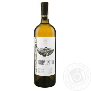 Вино Terra Initia Tsinandali белое сухое 12.5% 0,75л - купить, цены на Novus - фото 1
