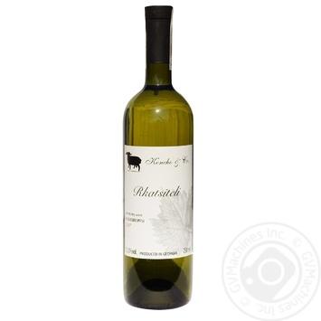 Вино Koncho & Co Verdzi Rkatsiteli белое сухое 12,5% 0,75л