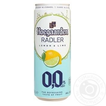 Пиво Hoegaarden Radler Лимон и Лайм светлое безалкогольное 0,33л - купить, цены на МегаМаркет - фото 1