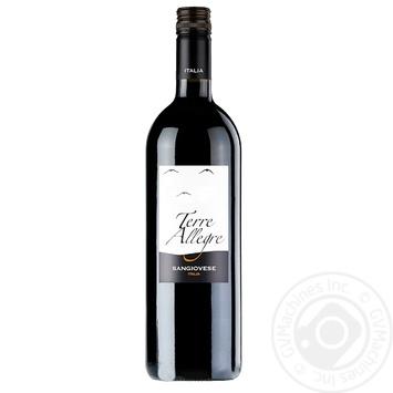 Terre Allegre Sangiovese red dry wine 12% 0.75l - buy, prices for Novus - image 1