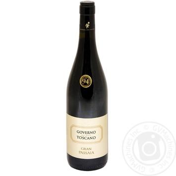 Вино Gran Passaia Governo Toscana красное сухое 13,5% 0,75л - купить, цены на Novus - фото 1