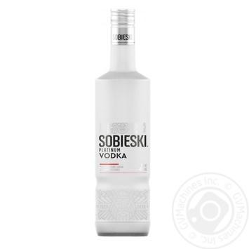 Водка Sobieski Platinum 40% 0,5л - купить, цены на Novus - фото 1
