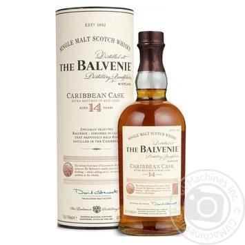 Віскі Balvenie Caribbean Cask 14 років 42% 0,7л - купити, ціни на МегаМаркет - фото 1