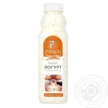 Біфідойогурт Zinka з козиного молока зі смаком злаків 2,8% 300г - купити, ціни на CітіМаркет - фото 2