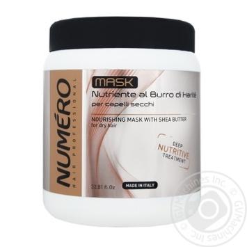 Поживна маска для волосся Brelil Numero З олією карите 1л - купити, ціни на Novus - фото 1