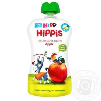 Пюре фруктовое HiPP Hippis яблуко для детей с 4 месяцев 100г