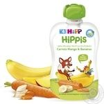 HiPP Hippis For Children From 4 Months Carrot-Mango-Banana Puree 100g - buy, prices for Auchan - image 1