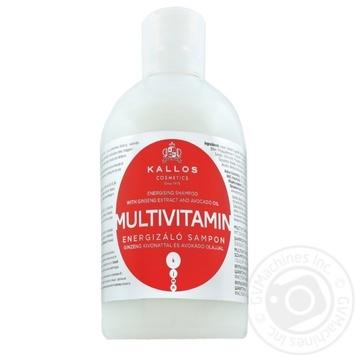 Шампунь Kallos энергетический мультивитаминный с экстрактом женьшеня и маслом авокадо 1л - купить, цены на Novus - фото 1