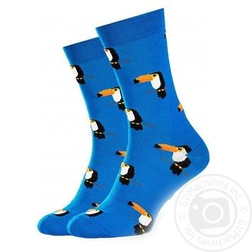"""Шкарпетки чоловічі Goodsox """"Тукан"""" сині Розмір 27-29 - купити, ціни на Novus - фото 1"""