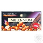 Millennium Golden Nut Black Chocolate with Whole Hazelnuts 90g - buy, prices for Furshet - image 1