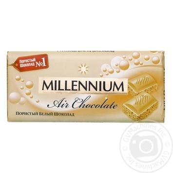 Шоколад Millenium Premium белый пористый 90г - купить, цены на Novus - фото 1