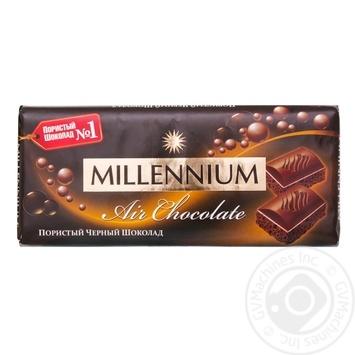 Шоколад Millenium Premium чорний пористий 90г
