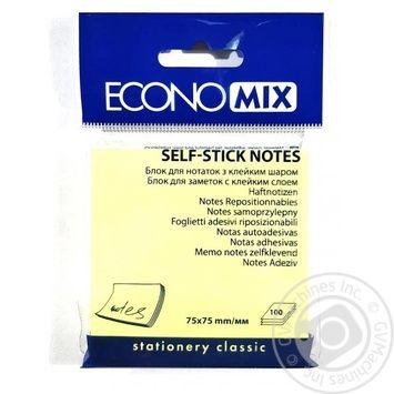Economix Е20932 Sticker block yellow 100pcs