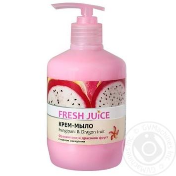 Крем-мыло Fresh Juice Франжипани & Питахайя fruit жидкое 460мл