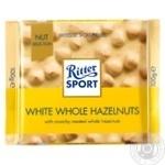 Шоколад Ritter Sport белый с цельным лесными орехами 100г