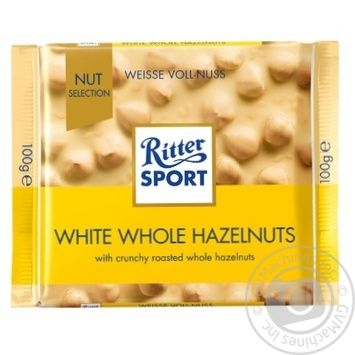Ritter Sport With Whole Hazelnut White Chocolate 100g - buy, prices for Novus - image 1