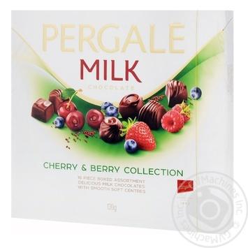 Конфеты Pergale из молочного шоколада с вишневой и ягодными начинками 130г - купить, цены на Novus - фото 1
