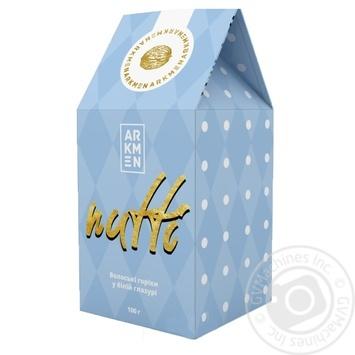 Орехи грецкие Arkmen Nutti в белой шоколадной глазури 100г