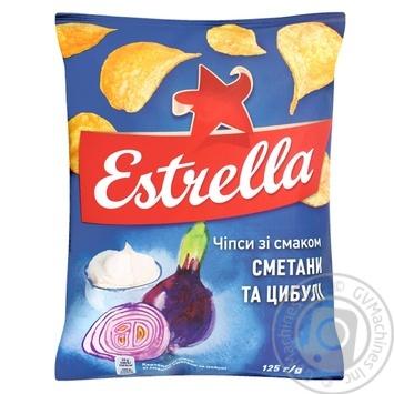 Чипсы Estrella со вкусом сметаны и лука 125г