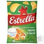 Чіпси Estrella зі смаком лисичок в сметані 125г