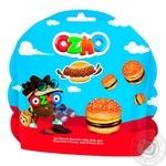 Печенье-сендвич Ozmo Burger с молочным и шоколадным кремом та рисовими кульками 40г