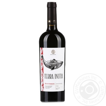 Вино Terra Initia Киндзмараули красное полусладкое 11,5% 0,75л