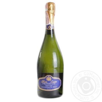 Вино игристое Porta Leone Prosecco Millessimato Brut Trevicso DOC белое сухое 11% 0,75л