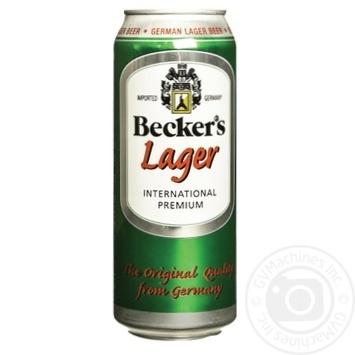 Пиво Becker's Lager светлое 4,2% 0,5л