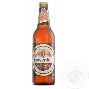 Пиво Kaiserdom Kellerbier полутемное пастеризованное 4,7 % 0,5л - купить, цены на Novus - фото 1