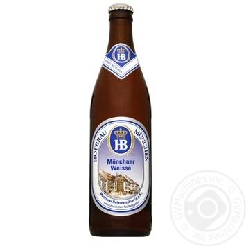 Пиво Hofbrau Munchner Weisse світле нефільтроване 5,1% 0,5л
