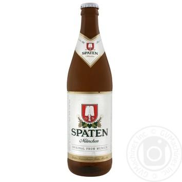 Пиво Spaten Munchen Hell светлое 5,2% 0,5л - купить, цены на Метро - фото 1
