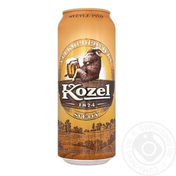 Velkopopovicky Kozel light beer can 4,0% 0,5l - buy, prices for Auchan - photo 1