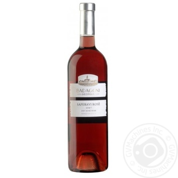 Вино Badagoni Сапреави розовое сухое 12-14% 0,75л