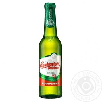 Пиво Budweiser Budvar светлое безалкогольное 0,5% 0,33л - купить, цены на Novus - фото 1