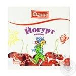 Йогурт Фанни Вишня питьевой 1% 400г