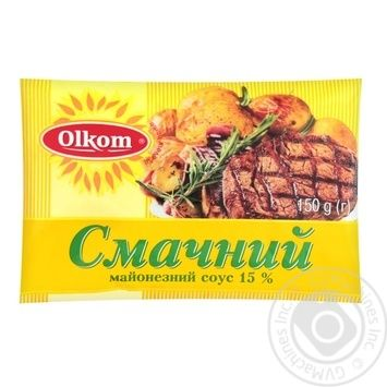 Mayonnaise Olkom Tasty 15% 150g - buy, prices for MegaMarket - image 1