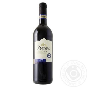 Вино Andes Cabernet Sauvignon красное сухое 12.5% 0,75л