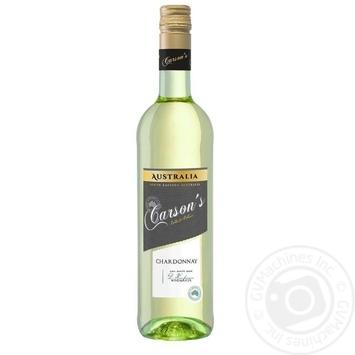 Вино Carson's Chardonnay біле сухе 13% 0,75л