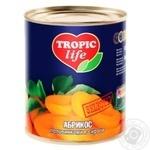 Абрикос Tropic life половинками в сиропі 850мл