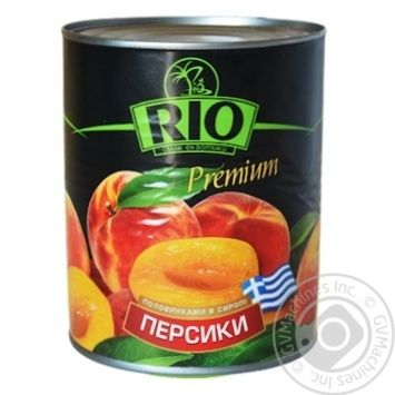 Peach halves Rio in syrup 850ml Greece - buy, prices for Novus - image 1