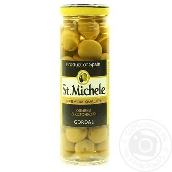 Оливки зеленые St.Michele Gordal с косточкой 340мл