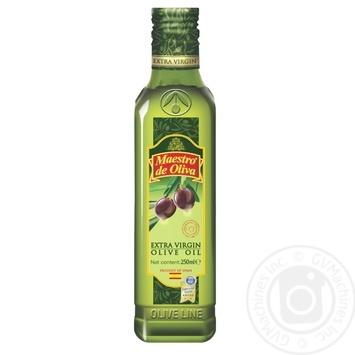 Масло Маэстро де Олива оливковое нерафинированное экстра вирджин первого холодного отжима 250мл - купить, цены на Novus - фото 1